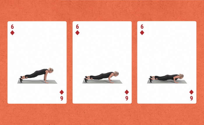 Carrie underwood doing push-ups for here fitness app
