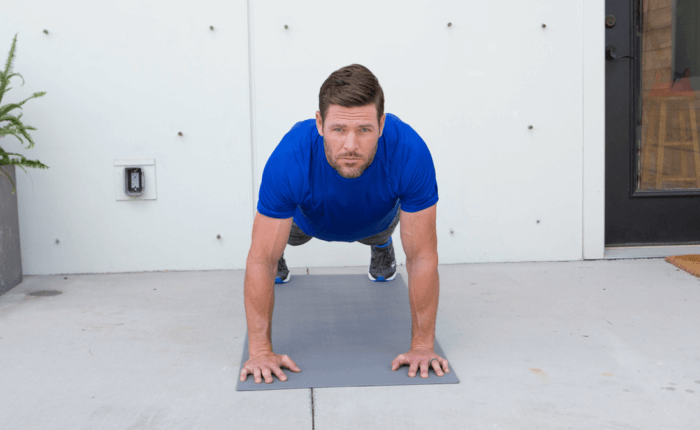 Mike Fisher holding a plank