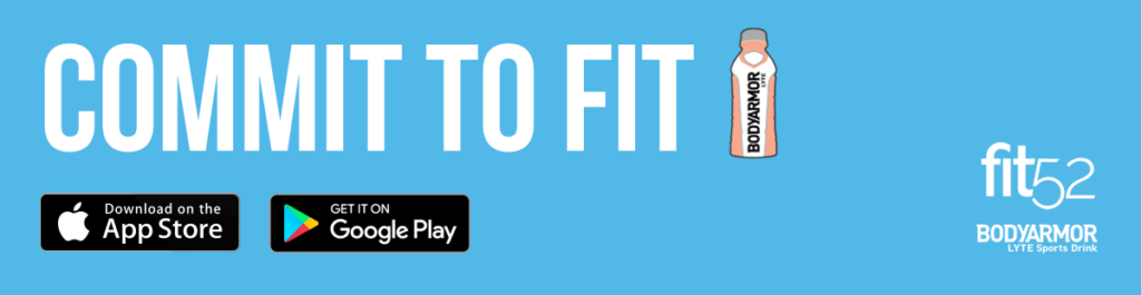 Banner showing the Commit to Fit path cover photo of Carrie Underwood, which will link to the fit52 app