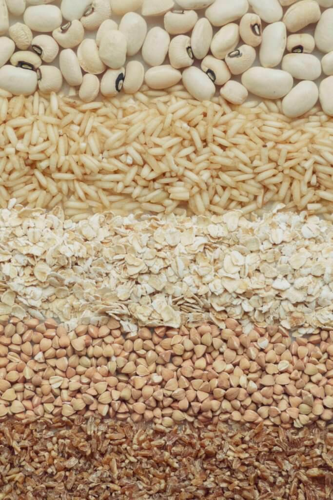 Whole grains are a great source of fibre for a balanced diet